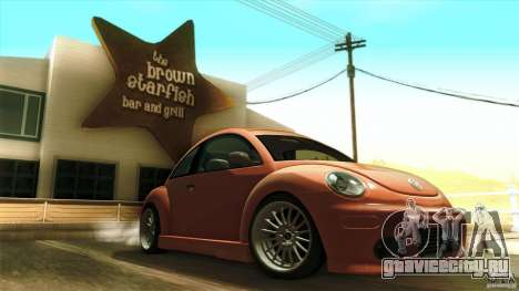 Volkswagen Beetle RSi Tuned для GTA San Andreas вид снизу