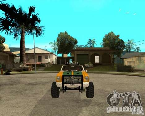 Ford Mustang Sandroadster для GTA San Andreas вид сзади