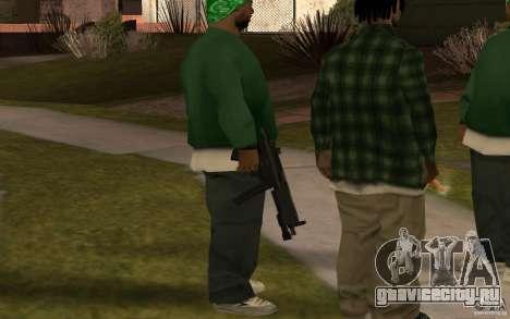 Новая MP5 с фонариком для GTA San Andreas третий скриншот