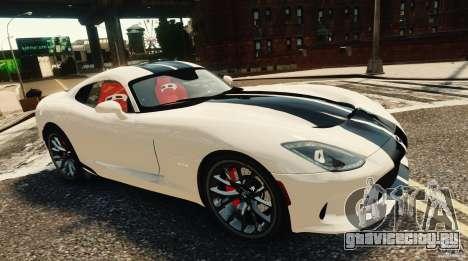 Dodge Viper GTS 2013 для GTA 4 вид сзади слева