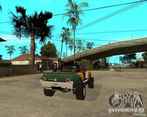 Ford Mustang Sandroadster для GTA San Andreas вид сзади слева