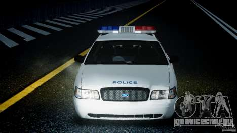 Ford Crown Victoria CVPI-V4.4M [ELS] для GTA 4 вид сверху