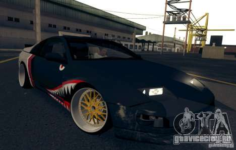 Nissan 300ZX Bad Shark для GTA San Andreas вид сверху