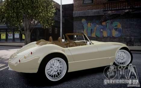 Wiesmann MF3 Roadster Final для GTA 4 вид сзади