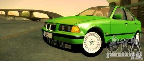 BMW E36 320i для GTA San Andreas вид снизу