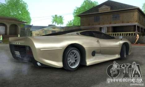 Jaguar XJ 220 Black Rivel для GTA San Andreas вид справа