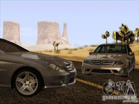 Mercedes-Benz CLS63 AMG для GTA San Andreas вид изнутри