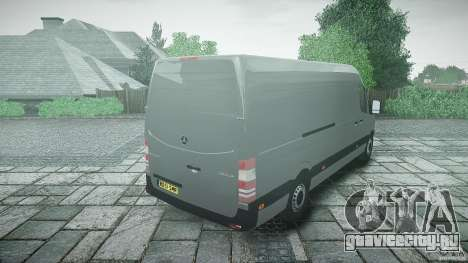 Mercedes Benz Sprinter Long Version для GTA 4 вид сбоку