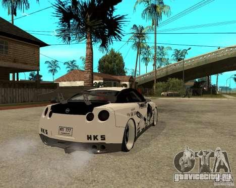 Nissan Skyline R35 для GTA San Andreas вид сзади слева