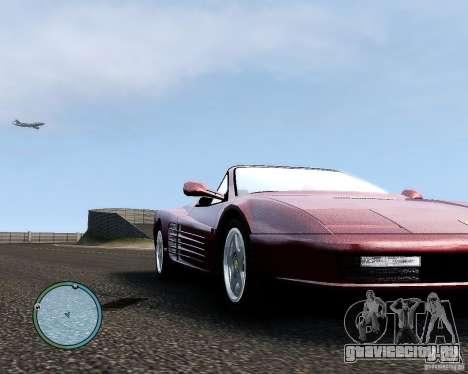 Ferrari Testarossa для GTA 4 вид сзади