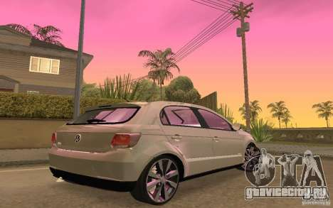 Volkswagen Gol G6 для GTA San Andreas вид сзади