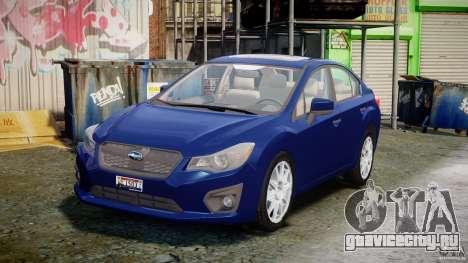 Subaru Impreza Sedan 2012 для GTA 4