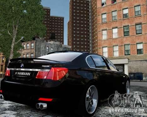 BMW 750Li (F02) Hamann 2010 v2.0 для GTA 4 вид сзади