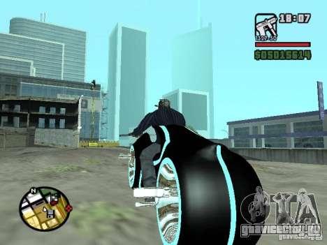 Tron legacy bike v.2.0 для GTA San Andreas вид сзади слева