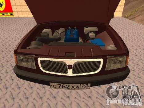 ГАЗ 3110 ВОЛГА v1.0 для GTA San Andreas вид сзади
