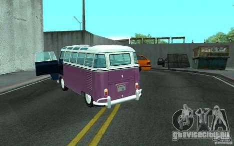 Volkswagen Transporter T1 SAMBAQ CAMPERVAN для GTA San Andreas вид сбоку