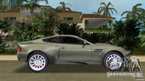 Aston Martin V12 Vanquish 6.0 i V12 48V для GTA Vice City вид слева
