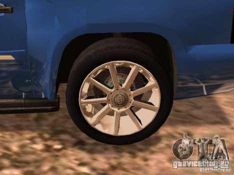 GMC Yukon Denali XL для GTA San Andreas вид сзади слева