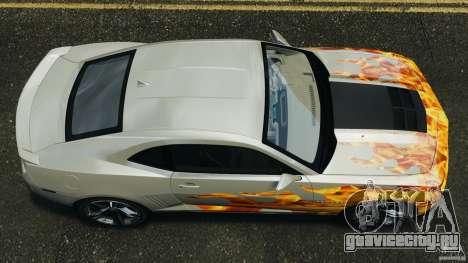 Chevrolet Camaro ZL1 2012 v1.0 Flames для GTA 4 вид справа