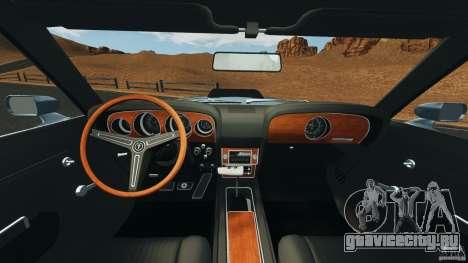 Ford Mustang Boss 429 для GTA 4 вид сзади