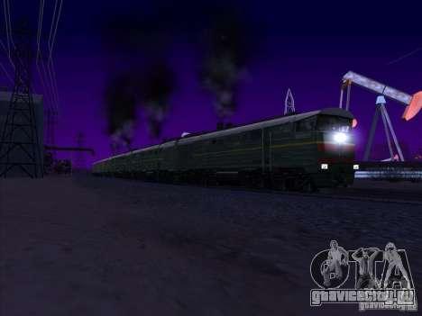 4ТЭ10С-0013 для GTA San Andreas вид изнутри
