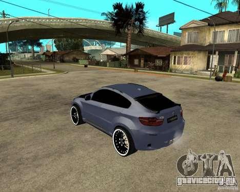 BMW X6 M HAMANN для GTA San Andreas вид слева