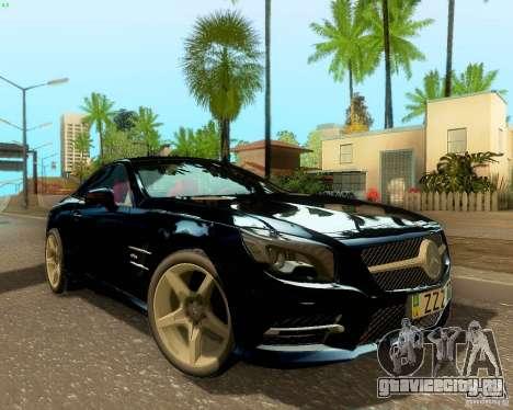 Mercedes-Benz SL350 2013 для GTA San Andreas вид сзади
