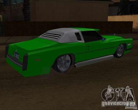 Cadillac Eldorado для GTA San Andreas вид сверху
