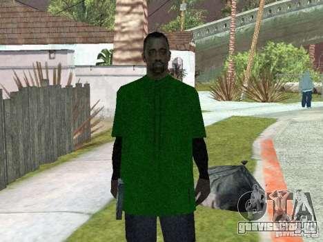 Новые скины банды Grove Street для GTA San Andreas второй скриншот