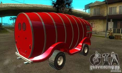 Beer Barrel Truck для GTA San Andreas вид справа