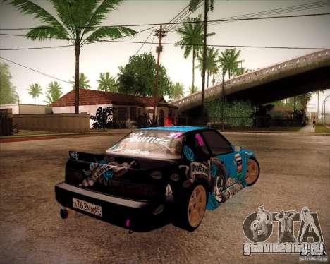 Nissan Silvia S13 NonGrata из Moscow Drift для GTA San Andreas вид сзади слева
