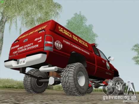 Dodge Ram 3500 Search & Rescue для GTA San Andreas вид сзади
