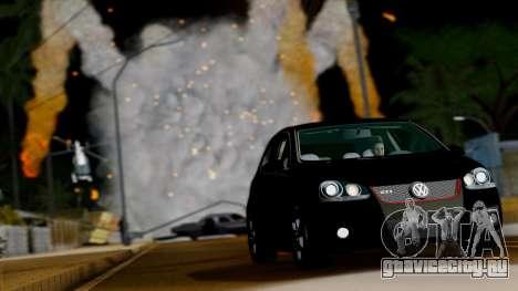 VW Golf V GTI 2006 для GTA San Andreas вид сзади