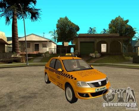 Dacia Logan Taxi Bucegi для GTA San Andreas вид справа