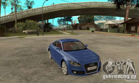 Audi TT 2007 для GTA San Andreas вид изнутри