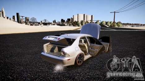 Lexus IS300 для GTA 4 вид сверху