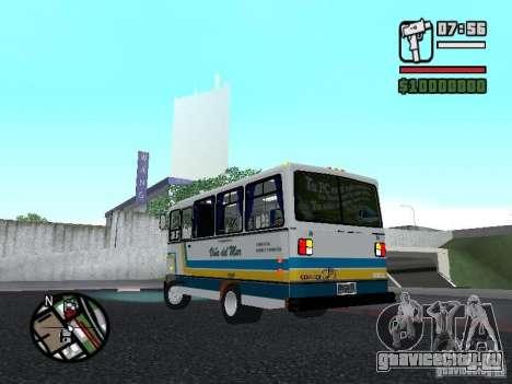 Cuatro Ases M.Benz LO608D для GTA San Andreas вид сзади слева