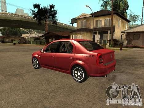 Dacia Logan Rally Dirt для GTA San Andreas вид слева