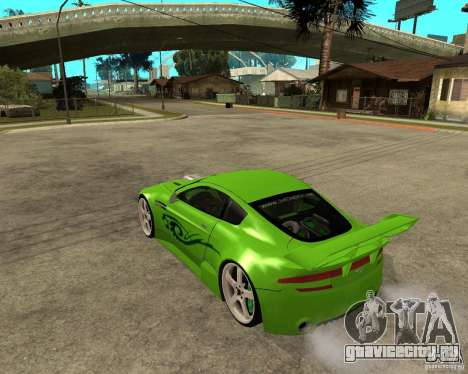 Aston Martin Vantage V8 - Green SHARK TUNING! для GTA San Andreas вид слева