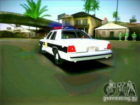 Ford Crown Victoria LTD 1991 HILL-VALLEY Police для GTA San Andreas вид сзади слева