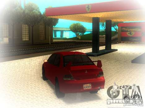 Mitsubishi Lancer Evolution IX MR 2006 для GTA San Andreas вид сзади слева