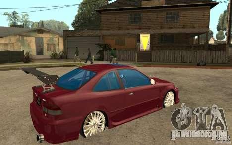 Honda Civic 1998 Tuned для GTA San Andreas вид справа