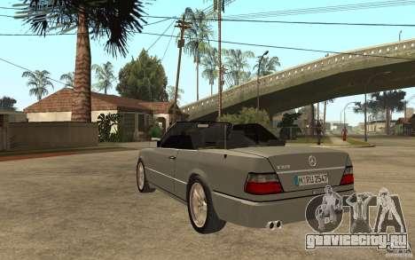 Mercedes-Benz E320 C124 Cabrio для GTA San Andreas вид сзади слева
