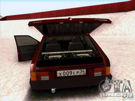 ВАЗ 2109 Зимняя для GTA San Andreas вид сзади слева