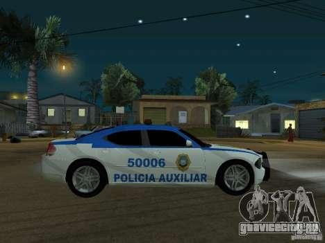 Dodge Charger Police для GTA San Andreas вид слева
