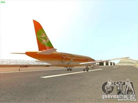 Sukhoi Superjet-100 для GTA San Andreas вид справа