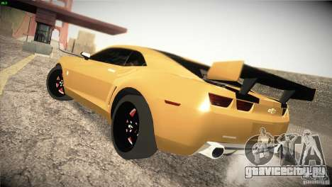 Chevrolet Camaro SS Transformers 3 для GTA San Andreas вид сзади слева