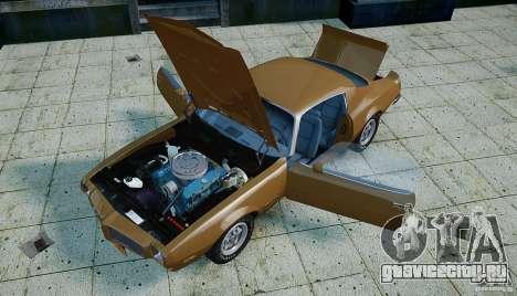 Pontiac Firebird 1970 для GTA 4 вид сверху