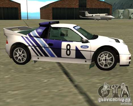 Ford RS200 rally для GTA San Andreas вид слева