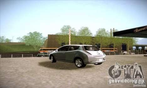 Nissan Leaf 2011 для GTA San Andreas вид слева
